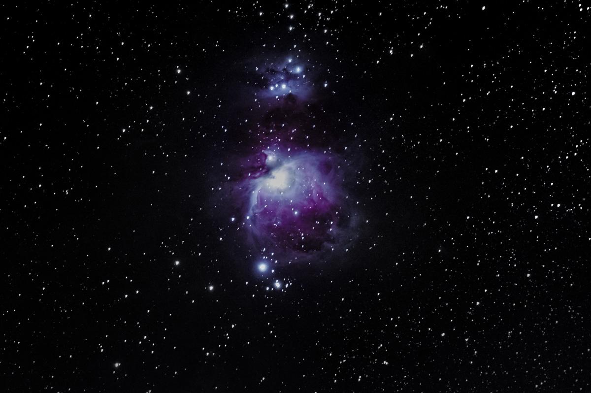 94 Einzelbilder (+Bias und Darks) á 10sec. bei ISO 400, f/4 mit der K1 und Astrotracer. Objektiv DA*300. Bearbeitet mit Deep-Sky-Stacker, Fitswork und Lightroom